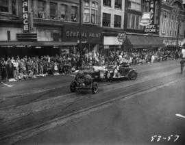 Clown firemen in 1953 P.N.E. Opening Day Parade