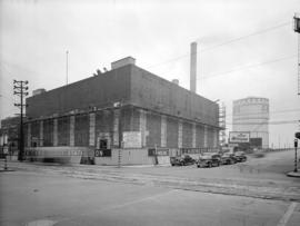 B.C. Electric Sub-Station [under construction at] Main Street and Georgia Street
