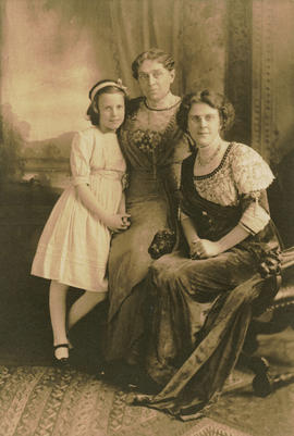 [Studio portrait of Mary Lucille Malkin, Mrs. Stella Eldridge, and Mrs. Julia Malkin]