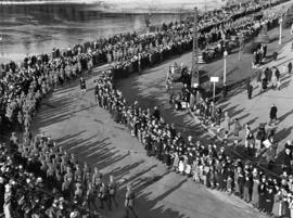 [A military parade into Stanley Park for the memorial service of King George V]