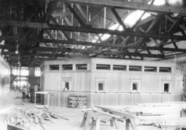"Interior construction progress photograph of the CPR Pier ""D"""