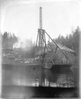 [Construction of Brentwood Bay Steam Plant, viewed from inlet]