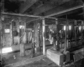 [Electric wiring and machinery in grist mill and pump]