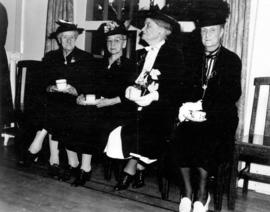 [Pioneer ladies having tea at Diamond Jubilee Celebrations]
