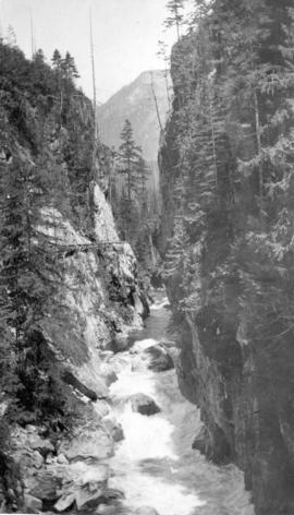 Capilano Canyon showing cedar bolt flume
