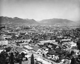 [View of Mount Pleasant looking northeast from City Hall]