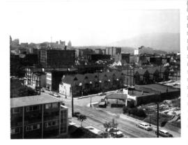Intersection of Georgia and Dunlevy, looking north-west from roof of high-rise