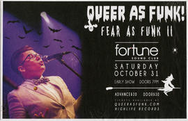 Queer as Funk! : Fear as Funk II : Fortune Sound Club : Saturday, October 31