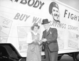 Bekins truck [advertising war savings stamps]