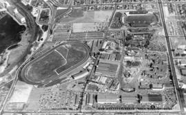 Aerial view of P.N.E. grounds