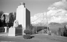 [Lion sculpture at the south end of the Lions Gate Bridge]