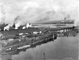 [The Robertson and Hackett Sawmill in False Creek]