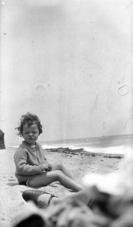 [Mary Louise Taylor at the beach]