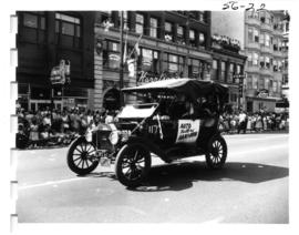 Auto Factory Bake-Oven Ford Model T car in 1956 P.N.E. Opening Day Parade