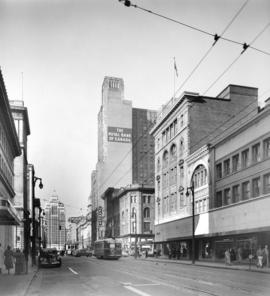 [View of Hastings Street looking west from Richards Street]