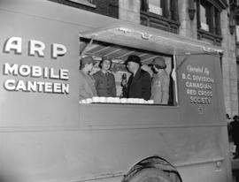 A.R.P. mobile canteen (Red Cross) [and] C.K.W.X. broadcast