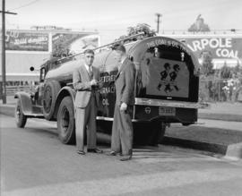 Shell Oil Co. publicity photo - Watkins Winram Oil truck