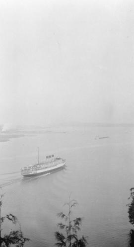 "[View of  C.P. ""Princess"" ship entering harbour at First Narrows]"