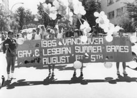 1985 Vancouver Gay and Lesbian Summer Games parade