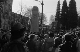 Victory Square cenotaph, November 11, 1985