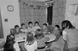 Children at a birthday party
