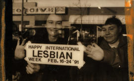 Lesbian week poster campaign