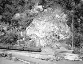 [Graffiti on rocks near railroad tracks, Skagway, Alaska]