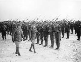 [The Prince of Wales inspects a battalion on the Western Front]