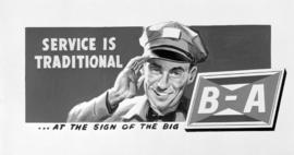 [B.A. Oil Company poster]