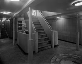 [Interior view of a ship, possibly the S.S. Coquitlam]