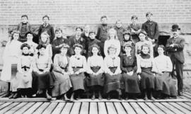 [Group photo of boys and girls] G.G. McGeer