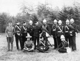 [A team participating in the Northwestern International Military Matches]