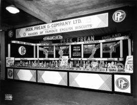 Peek, Frean and Co. display of British biscuits