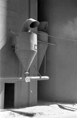 [Funnels on a grain elevator]