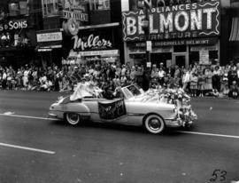 City of New Westminster decorated car in 1955 P.N.E. Opening Day Parade