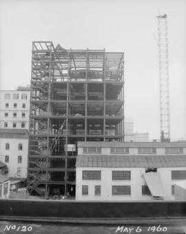 Construction of pan house: exterior view from south