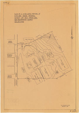 Plan of a 9.783 acre portion of Kitsilano Indian Reserve, District Lot 3610, Group one, New Westm...