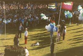 Crowd at Vancouver Centennial birthday celebration