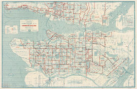 Street map of Greater Vancouver, B.C.