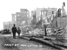Front St. from Lytton Sq. [after fire of September 10, 1898]