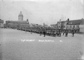 Military - 72nd Regiment Annual Inspection [on the Cambie Street grounds in front of the Drill Ha...