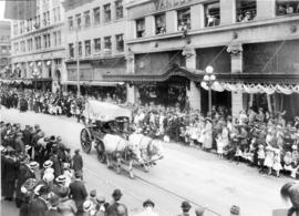 [A parade in the 700 Block of Granville Street]