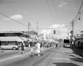 [The intersection of  West 41st Avenue and Yew Street looking east]