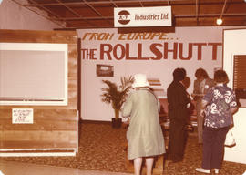 K & F Industries Ltd. Rollshutt blinds display booth