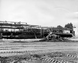 Construction of P.N.E. B.C. building