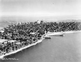 [Aerial view of] Vancouver B.C. looking east from English Bay
