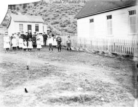 Methodist church and Sunday school children