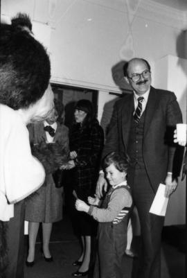 Mike Harcourt and child