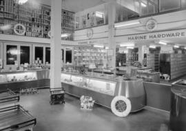 Edward Lipsett Ltd., Water St. - window display and interior of store [68 Water Street]