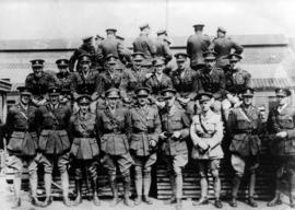 Group portrait of First World War officers